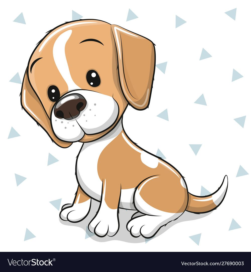 Cartoon Dog Beagle On A White Background Vector Image On Vectorstock Cute Dog Drawing Cartoon Dog Drawing Cartoon Dog