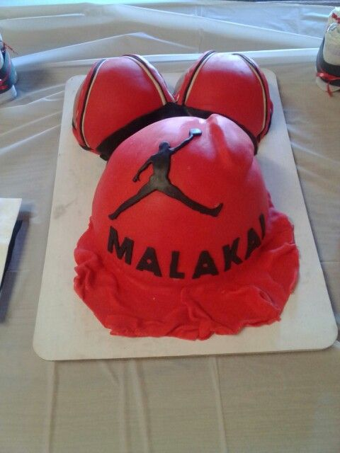 AIR JORDAN Baby Shower Cake. I Did This For Our Baby Shower. I Enjoyed