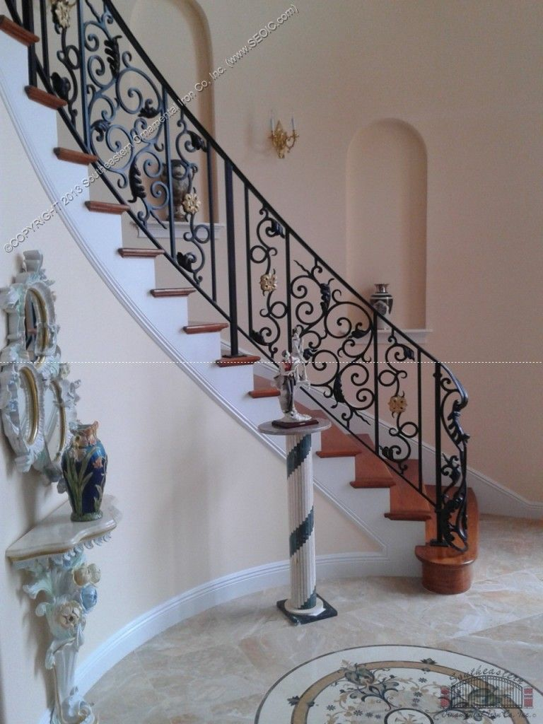 Best Wrought Iron Stair Railing Southeastern Ornamental Iron 400 x 300