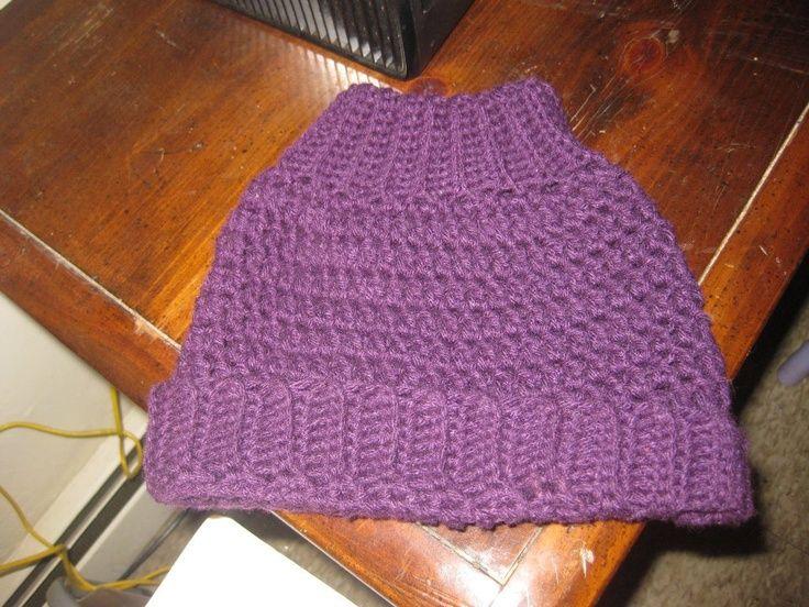 Image result for ponytail hat crochet pattern free | Crochet ...