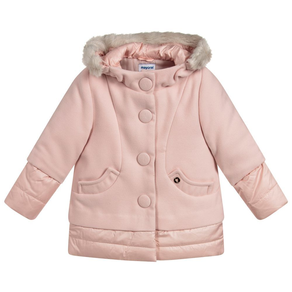 d880be6eb Girls Pink Padded Coat