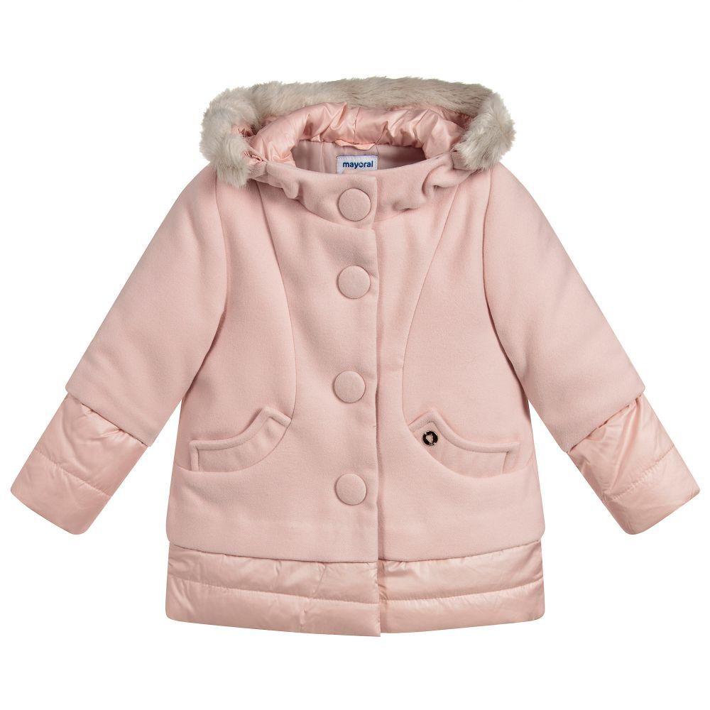 9d7fa8e1f1c1 Girls Pink Padded Coat