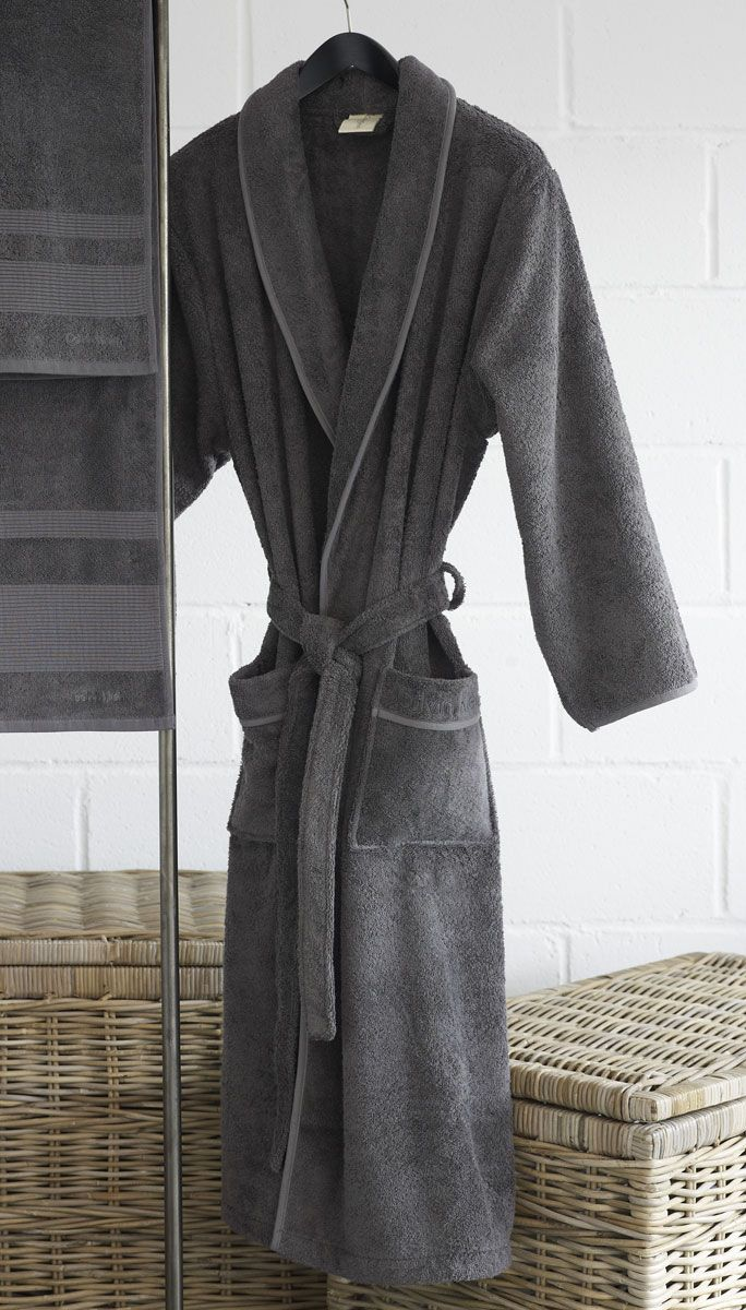 Calvin Klein Charcoal Core Dressing Gown | Palazzo Merkanti ...