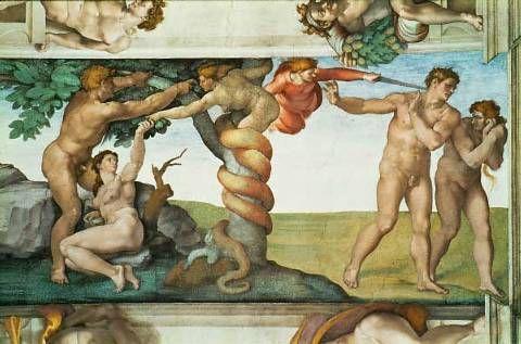 """""""A Expulsão do Paraíso"""" (Capela Sistina) - Michelangelo"""