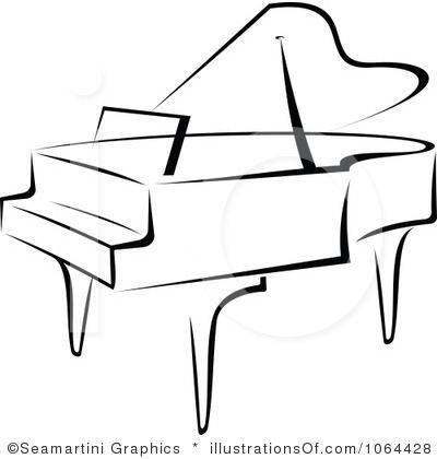 Royalty Free Rf Piano Clipart Illustration By Seamartini