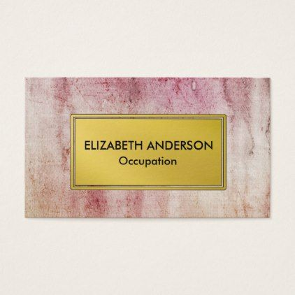 #professional - #Contemporary Pink Grunge Professional Business Card