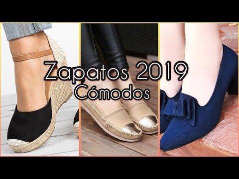 25f7c2eb ZAPATOS DE MODA 2019/ Zapatos Cómodos para Mujer / zapatos de piso / Zapatos  de Tacón Bajo 2019 - YouTube