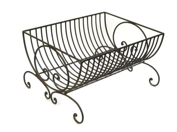 10 Off French Wire Dish Drainer Rack Metal Draining Plate Rustic Country Kitchen Decor