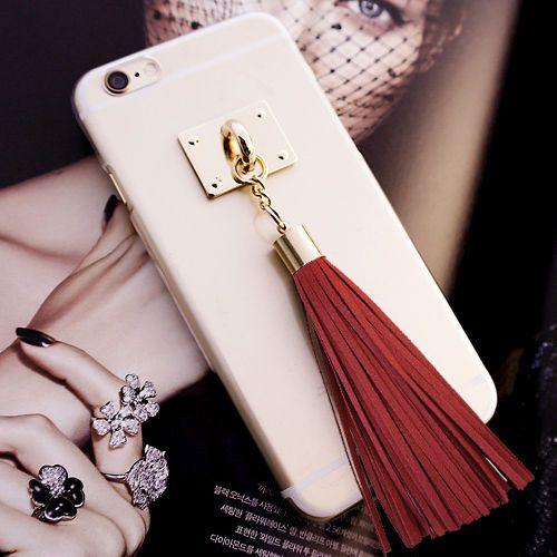 DiDi Tassel Clear Case Galaxy Note 4 Case Galaxy Note 3 Case 6 Colors Korea made #DiDi