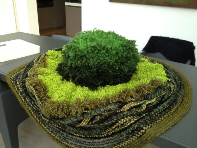 pouf et tapis de sol