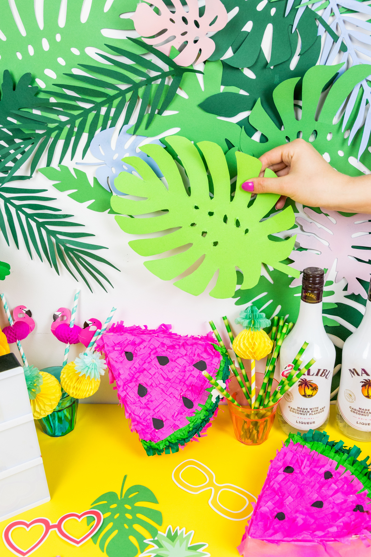Die Schönsten Sommer Party DIY Deko Ideen Selber Machen: So Einfach  Bastelst Du Eine Blätter
