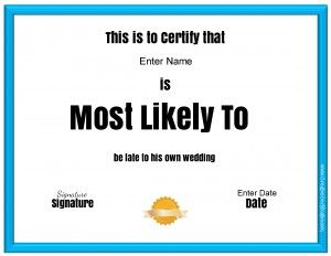 most likely to certificates  Most likely to awards | Projects to Try | Pinterest | Free ...