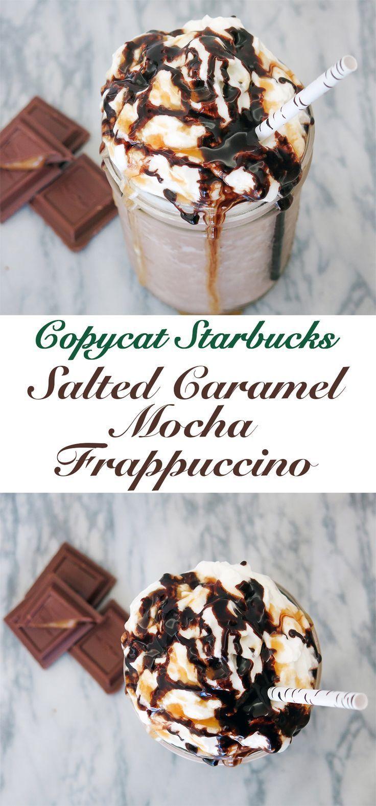 Salted Caramel Mocha Frappuccino Recipe #ketofrappucinostarbucks