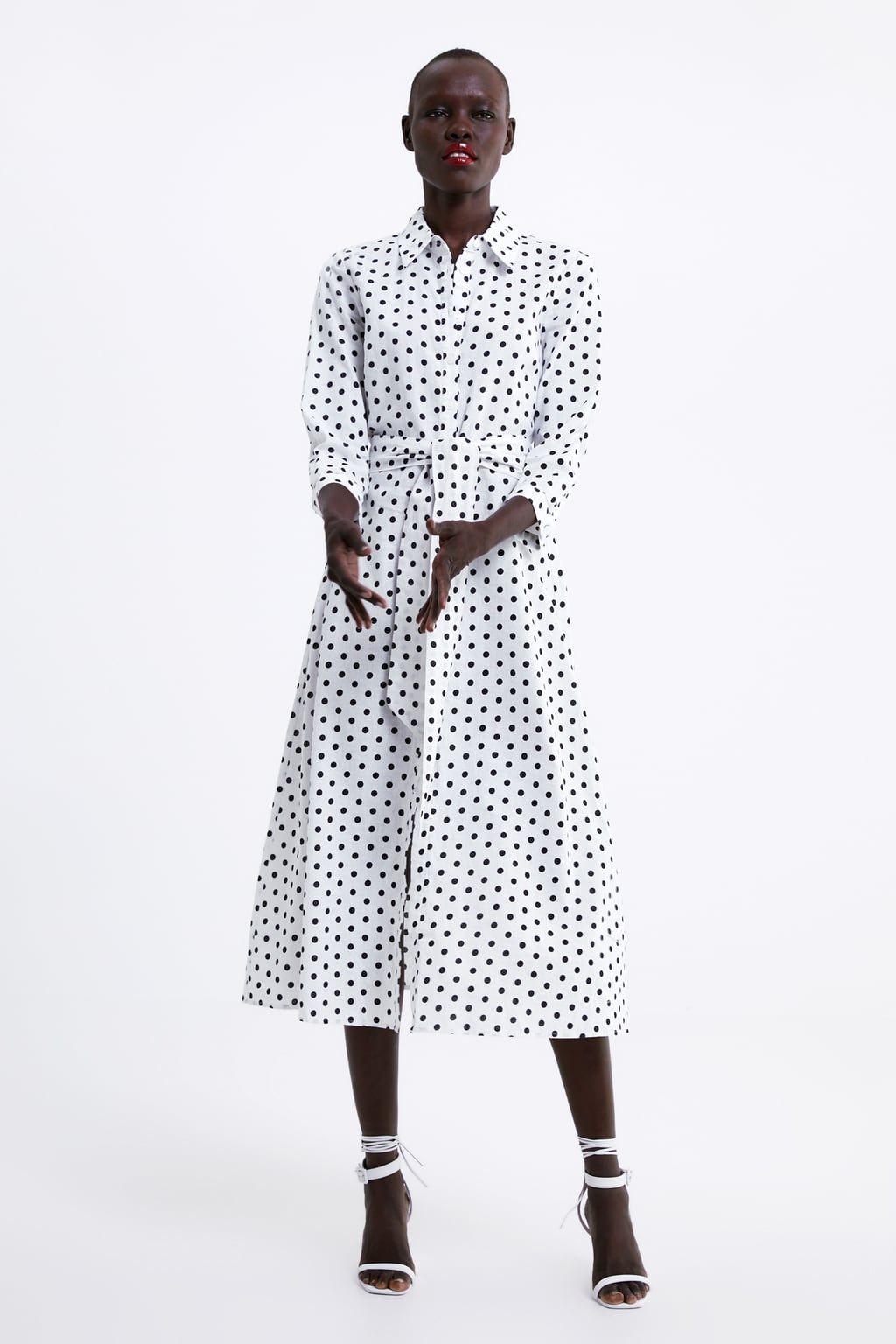 d93728e3 LONG POLKA DOT DRESS-View all-DRESSES-WOMAN | ZARA United States
