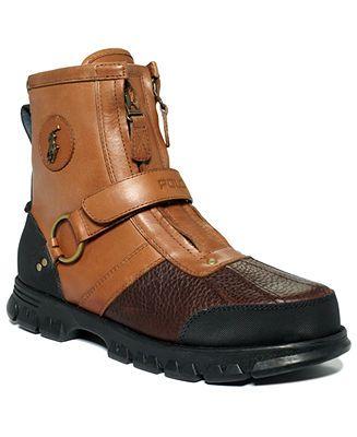 4696a6abee Polo Ralph Lauren Conquest III High Boots - Shoes - Men - Macy s ...
