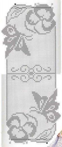 Grafico Borboletas Filet Crochet Padroes De Croche Doily