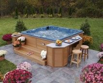 Barside Hottub Table Outdoor Pinterest Hot tubs Tubs and