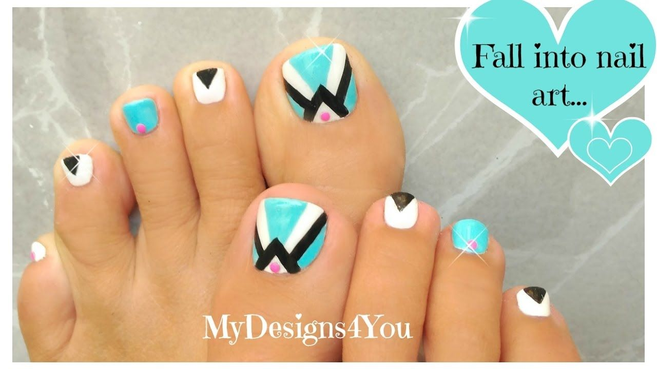 Retro Toenail Art Design Pedicure Toe Nail Nails Inspo