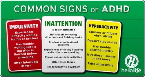 adhd adult sign of