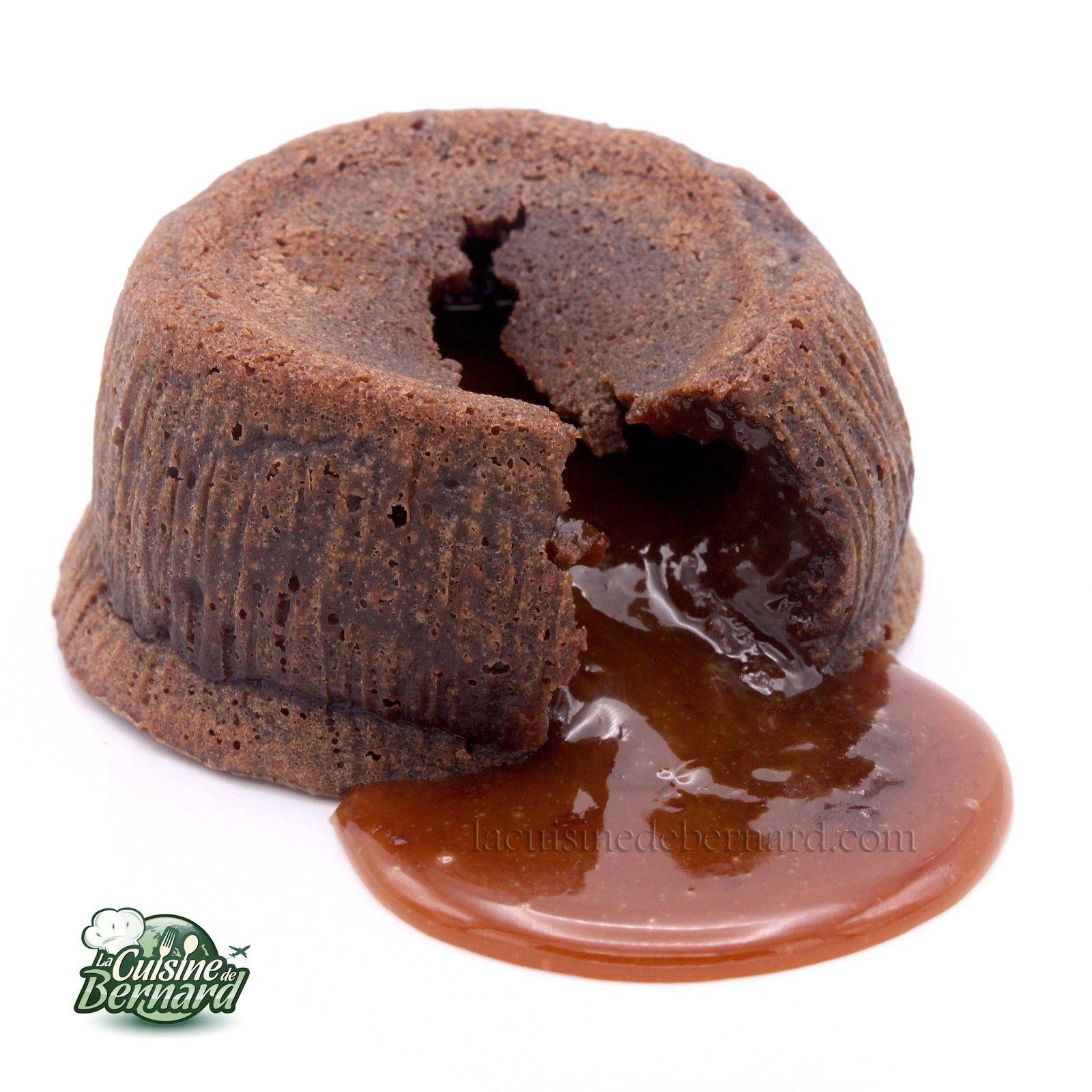 La Cuisine de Bernard : Mi Cuit au chocolat, cœur caramel coulant
