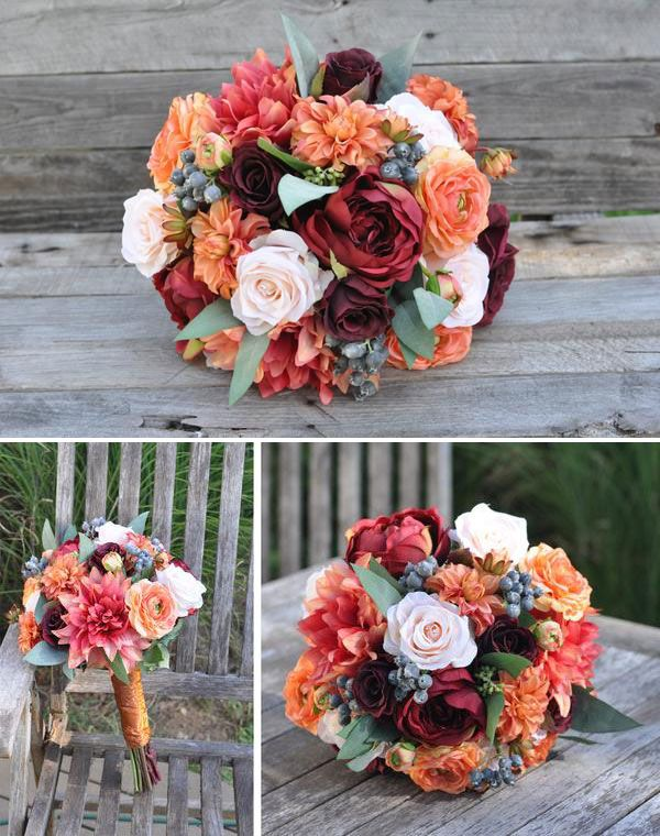 Fall Bridal Bouquet Bridal Bouquet Fall Fall Wedding Flowers Wedding Flower Girl Basket