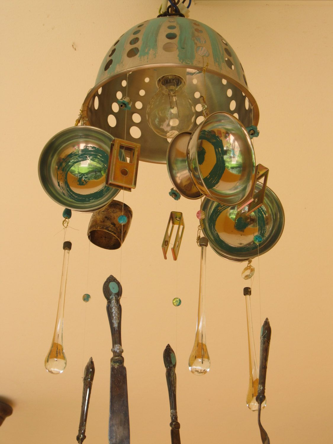 Decorative Mobile with Fish,Recycled Parts Mobile, Kids Mobile, For ...