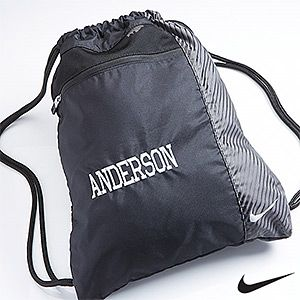 Nike Personalized Drawstring Bags - Custom Name | Kid, Bags and Nike