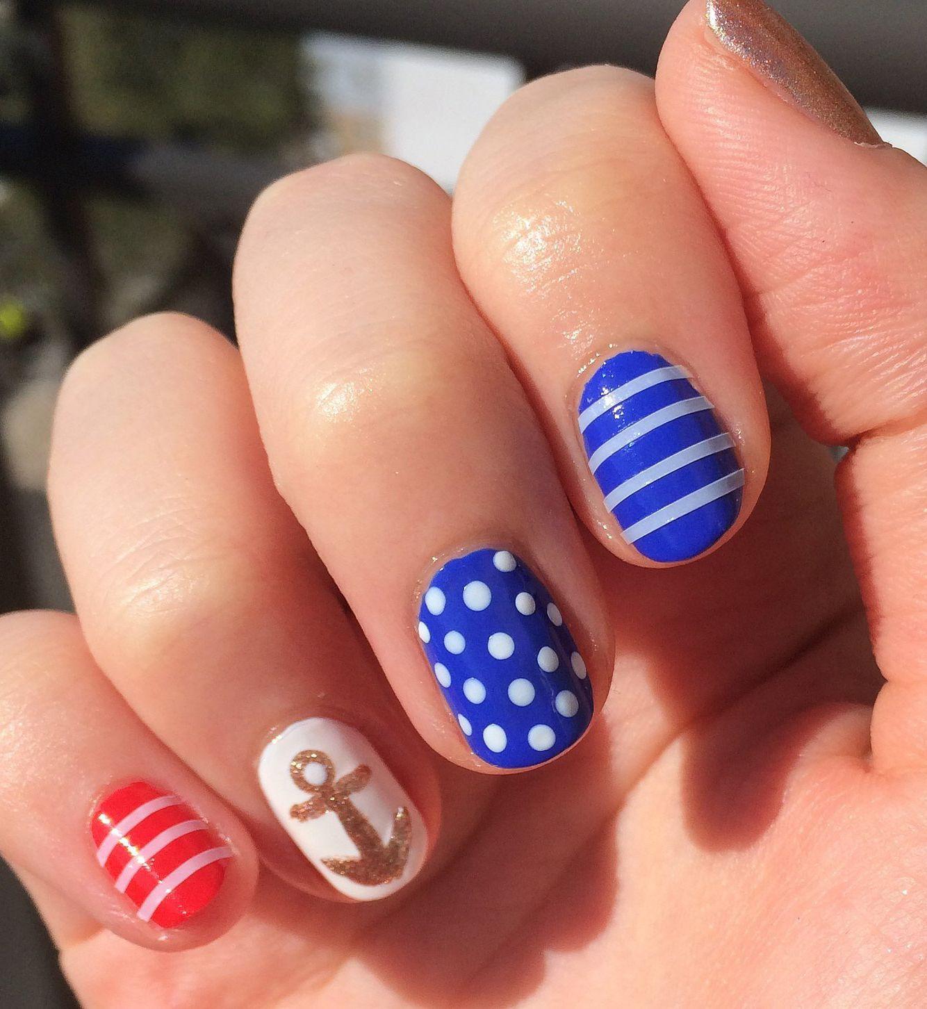 Memorial Day - Cute ideas | Nails | Pinterest | Diseños de uñas ...