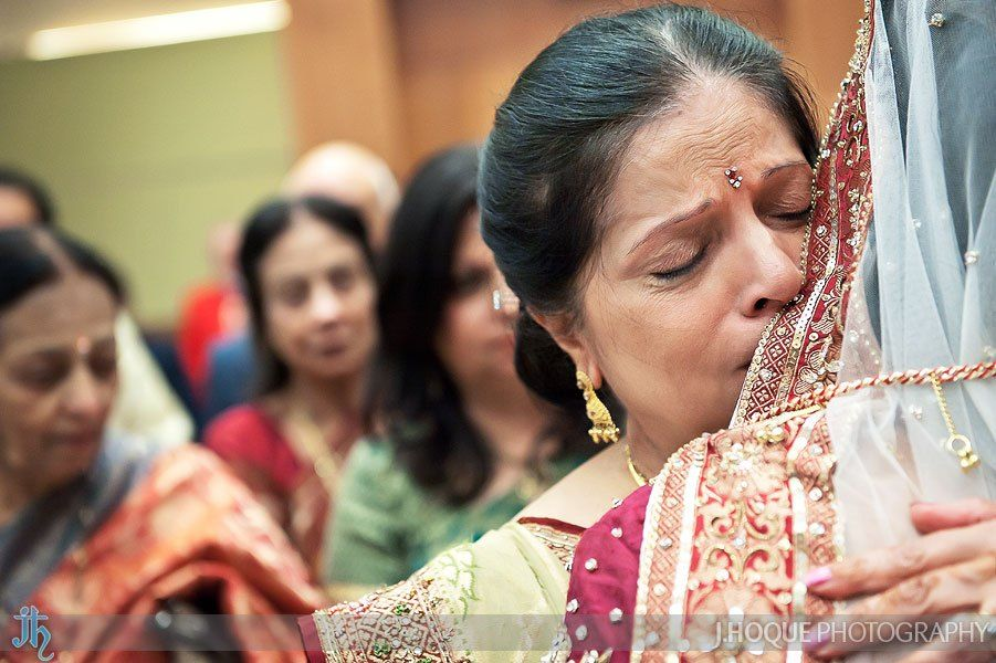 Brides Mother Crying While Hugging Her During Vidai Ceremony At Wedding