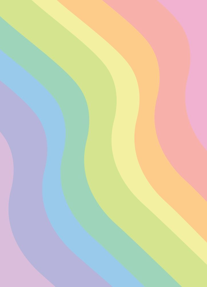 Rainbow Swirl 🍭 Digital Wallpaper | Phone Background | Graphic Design Art