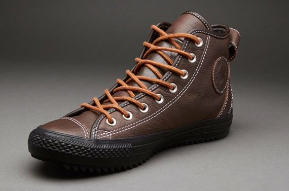converse mens black leather boots