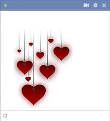 Hanging Hearts Emoticon Emoji Love Heart Emoticon