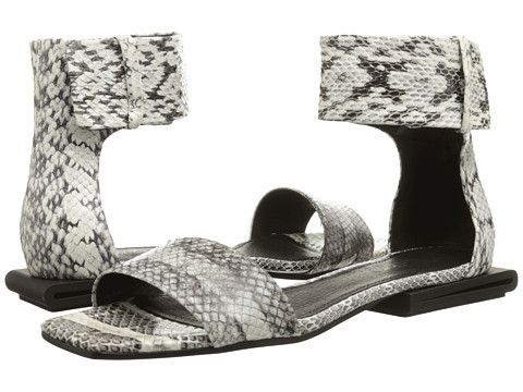 Womens Sandals Calvin Klein Collection Urma Black/White Bis Radiatta Snake