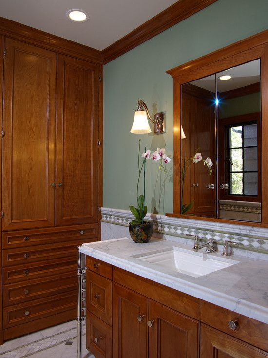 Others The Unique And Charming Brazilian Cherry Stairs Bathroom Paint Colors Traditional Bathroom Modern Mirror Design