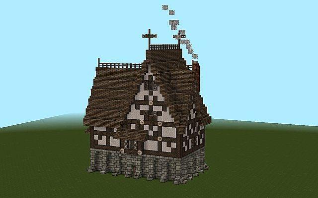 Tudor House Minecraft Map Minecraft Minecraft Medieval Minecraft Construction