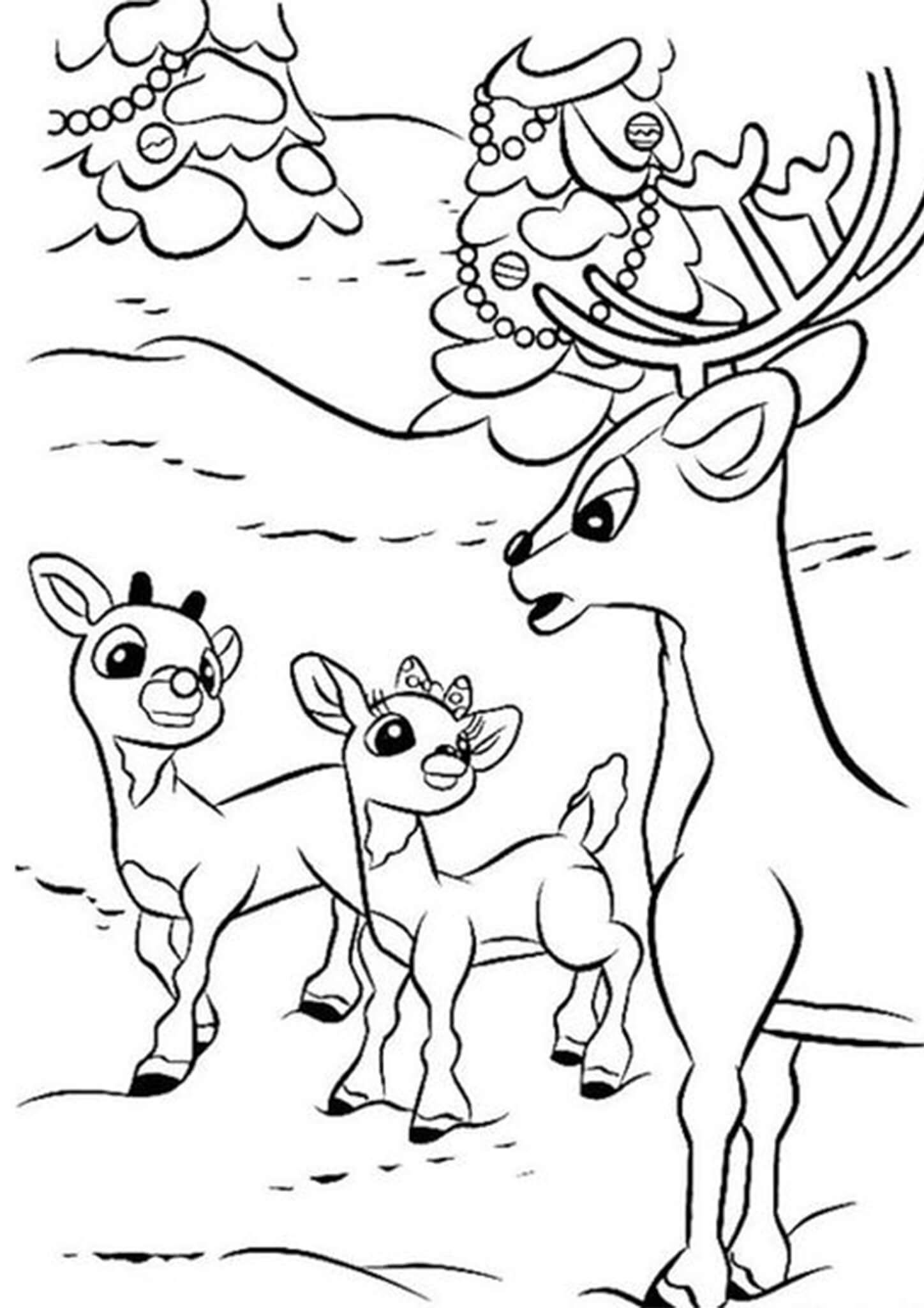c3e706dbd622dea4955a92473cdce26b » Rudolph Coloring Pages Free