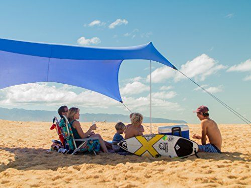 Best Camping Tents Neso Grande Beach Tent With Sand Anchor Portable Canopy For Shade Multiple Colors Periwinkle Largeneso