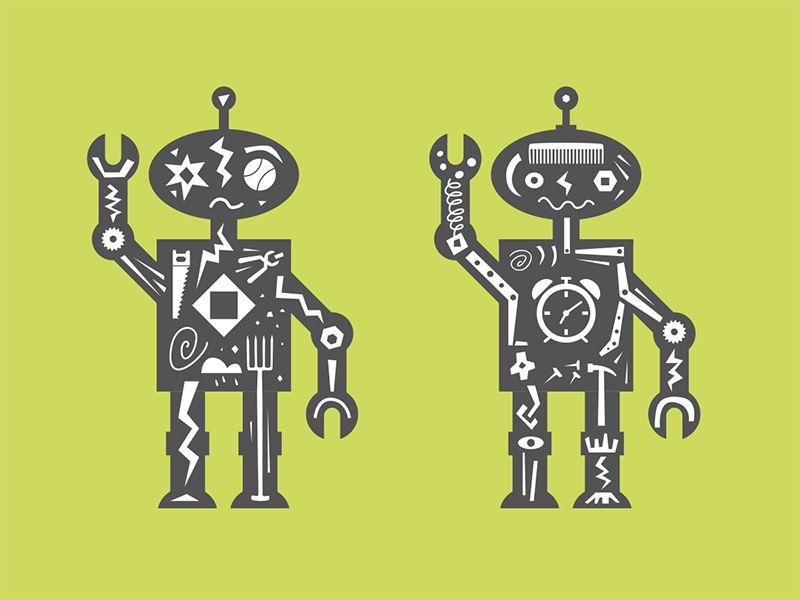 Shocking Robots by Mitch Frey