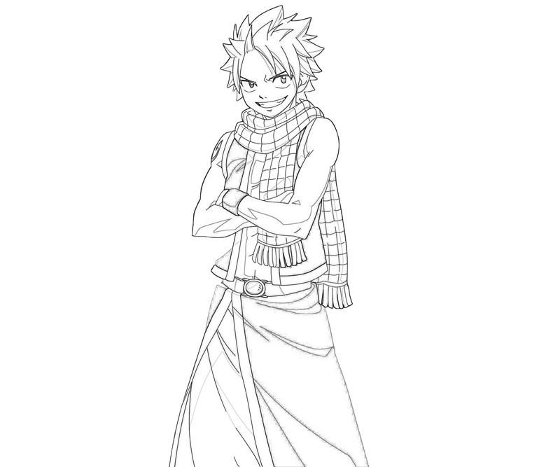 Fairy Tail Coloring Pages Natsu