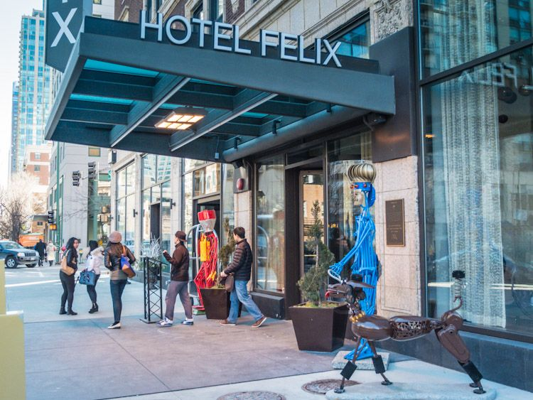 Staying At Hotel Felix In Chicago Il With Images Hotel Felix