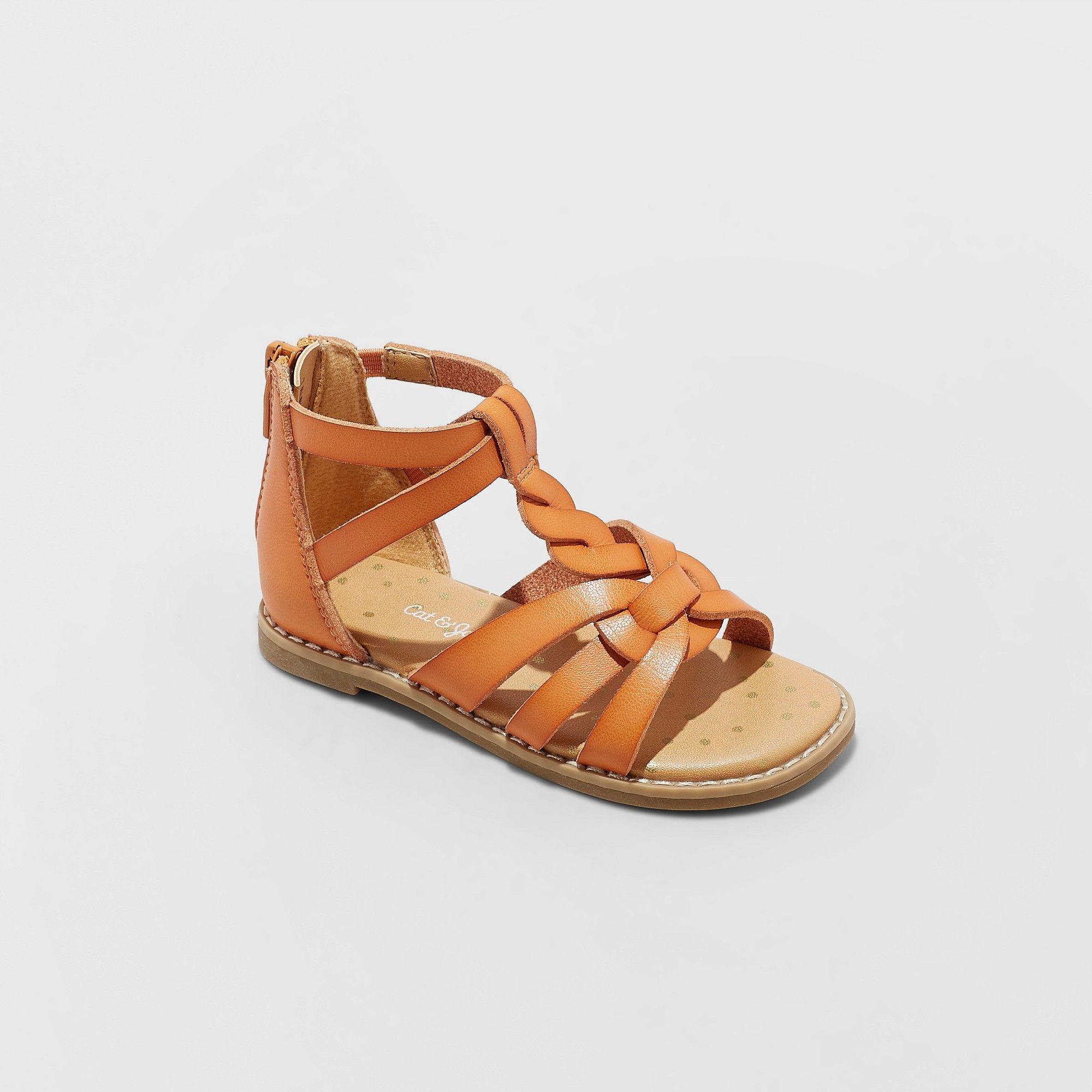 9a620fbf1c79 Toddler Girls  Kairi Gladiator Sandals - Cat   Jack Cognac 10