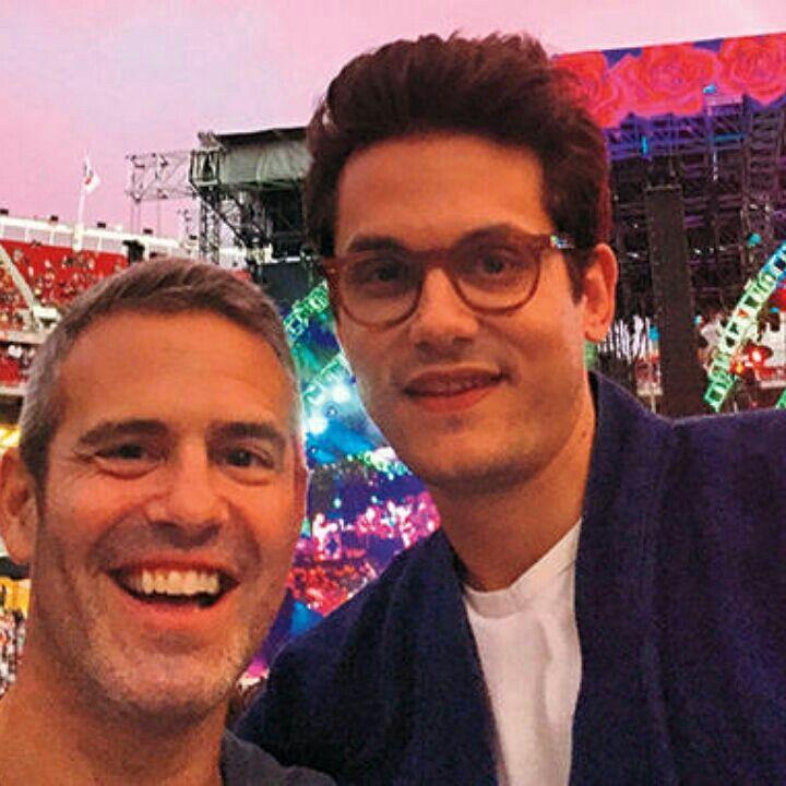 John e Andy Cohen em Santa Clara, no show de Grateful Dead, em comemoração aos 50 anos da banda.