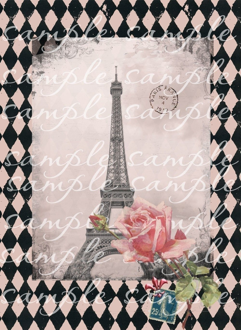 Sixty Three Different Vintage Paris Images In This Digital Collage Sheet Most
