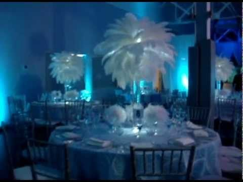 Rent Winter Wonderland Themed White Ostrich Feathers With