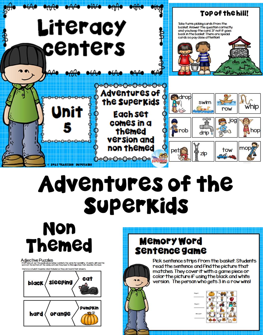 First Grade Literacy Centers Unit 5 | Teacher Created Resources ...