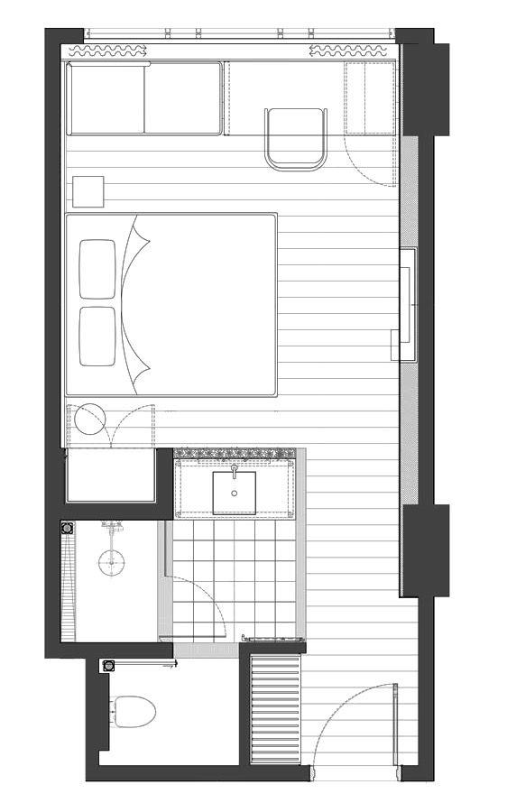 Gaia Cosmo Hotel Rooms Yogyakarta Hotel Room Design Small Hotel Room Hotel Room Design Plan