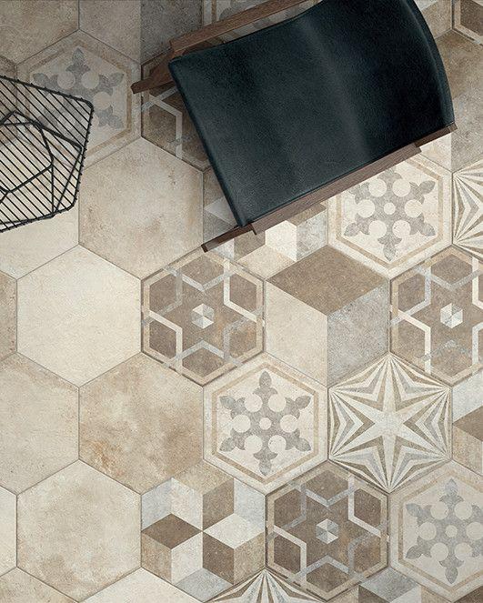Porcelain stoneware floor #tiles HERITAGE by Ceramica Fioranese