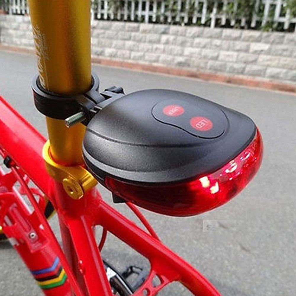 5 LED Bicycle Mountain Bike Cycle Waterproof Front and RearLamp Lights 5 Mode