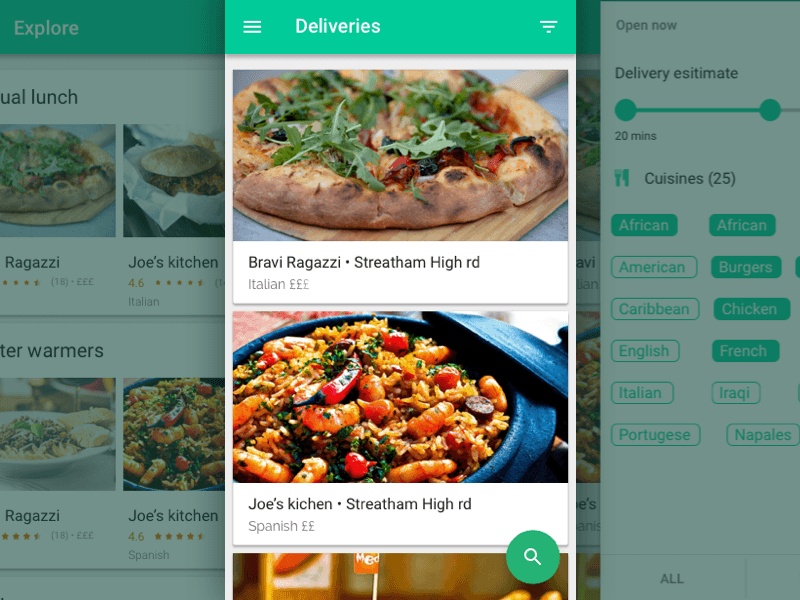 Food delivery app material design products pinterest sketch app free sources food delivery app resource for sketch app forumfinder Image collections