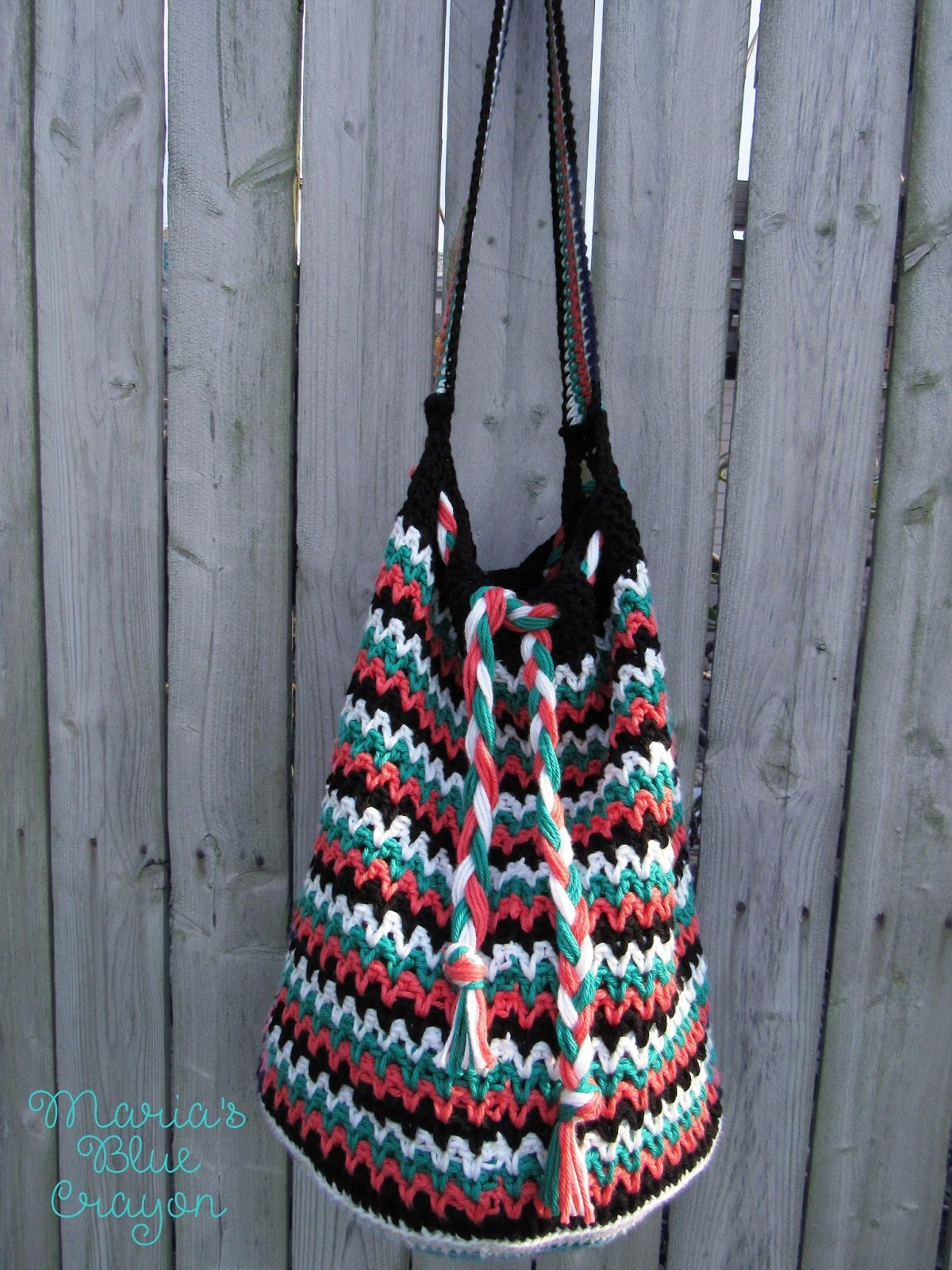 The Roxy Bag - Crochet Pattern - Maria\'s Blue Crayon | Crochet ...